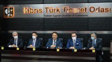 Başbakan Ersan Saner, Kıbrıs Türk Ticaret Odası'nda sektör temsilcileri ile bir araya geldi